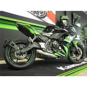 "Support de plaque ACCESS DESIGN déporté ""ras de roue"" noir Kawasaki Z650"