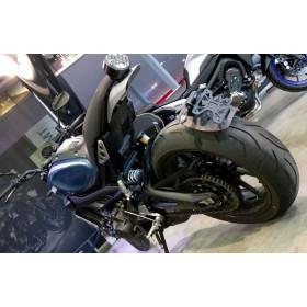 """Support de plaque ACCESS DESIGN déporté """"ras de roue"""" noir Yamaha XSR900"""