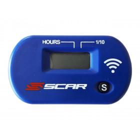 Compteur d'heures SCAR Sans-fil avec Velcro bleu