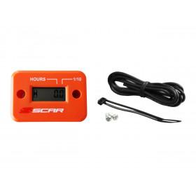 Compteur d'heures SCAR filaire avec Velcro orange