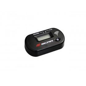 Compteur d'heures SCAR Sans-fil avec Velcro noir