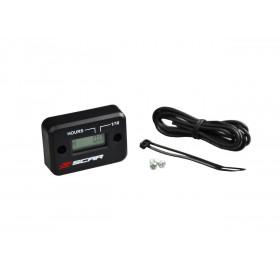 Compteur d'heures SCAR filaire avec Velcro noir