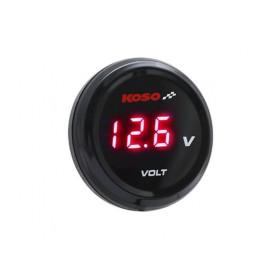 Voltmètre KOSO i-GEAR affichage bleu