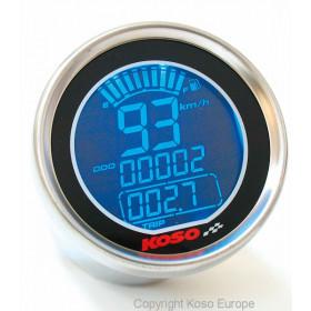 Compteur de vitesse KOSO DL01-S LCD GP Style rond universel
