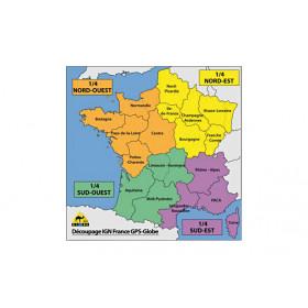 Carte IGN GPS Globe 1/4 France sud-ouest 1/25000e