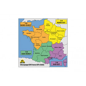 Carte IGN GPS Globe 1/4 France nord-est 1/25000e