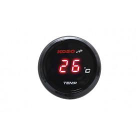 Compteur de température d'eau KOSO i-GEAR affichage bleu