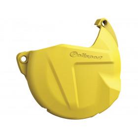 Protection de carter d'embrayage POLISPORT jaune Husqvarna TC/TE125