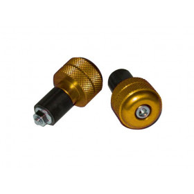 EMBOUT DE GUIDON STREET BIKE ACIER OR 18MM