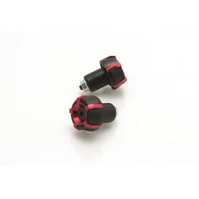 Embouts de guidon V PARTS Spark Ø18mm Noir/Rouge