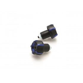 Embouts de guidon V PARTS Spark Ø18mm Noir/Bleu