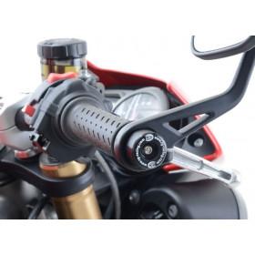 Embouts de guidon R&G RACING noir Triumph