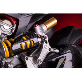 Protection amortisseur LIGHTECH carbone brillant Ducati Panigale