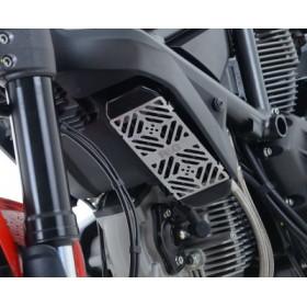 Protection de radiateur d'huile R&G RACING alu brossé Ducati