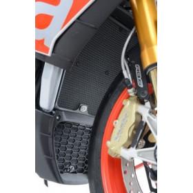 Protection de radiateur d'huile R&G RACING noir Aprilia RSV4RR