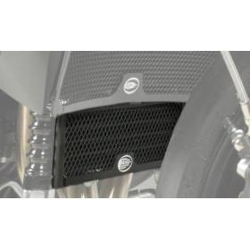 Protection de radiateur (huile) R&G RACING noir Triumph Speed 94/R / Speed Triple 1050/R