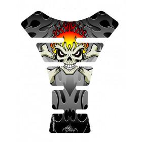 Protection de réservoir MOTOGRAFIX Street Style 1pc noir/argent Ducati