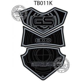 Protection de réservoir MOTOGRAFIX 3pcs noir/gris BMW F800GS