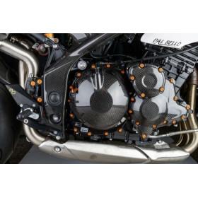 Protection de cadre LIGHTECH carbone brillant Triumph Speed Triple 1050