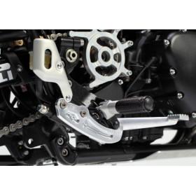 Protection cylindre frein arrière LSL argent Triumph Scrambler 865/900