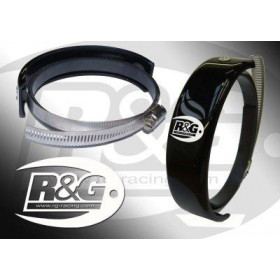 Protection de silencieux rond R&G RACING noir Ø140-165mm