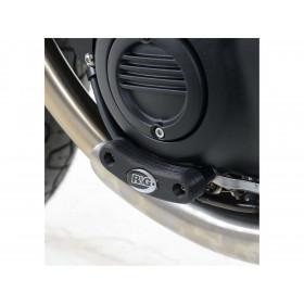Slider moteur gauche R&G RACING noir Triumph Bonneville T120