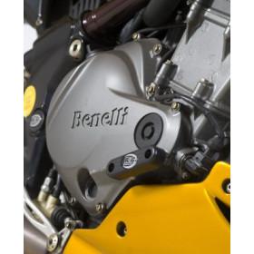 Slider moteur droit R&G RACING noir Benelli TNT 1130 Cafe Racer