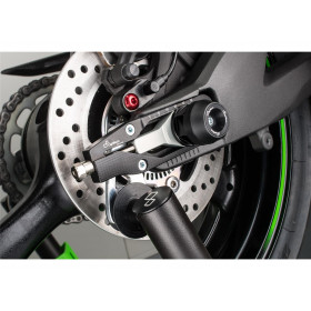 Protections fourche et bras oscillant (axe de roue) LIGHTECH noir Ducati Hypermotard 821 - ARDU103NER