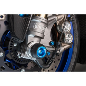 Protections fourche et bras oscillant (axe de roue) LIGHTECH Cobalt Honda CB650F - ARHO104COB