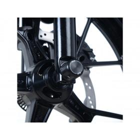 Tampons de protection de fourche R&G RACING noir Suzuki GSX-R125