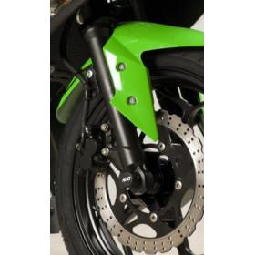 Protection de fourche R&G RACING noir Kawasaki Ninja 300/Z300