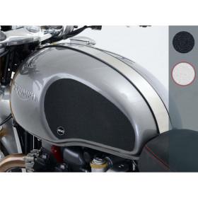 Kit grip de réservoir R&G RACING 2 pièces translucide Triumph Thruxton/Thruxton R