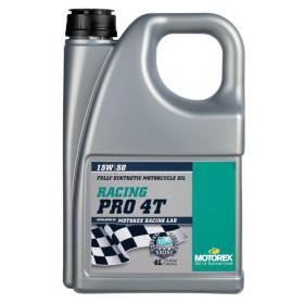 Huile moteur MOTOREX Racing Pro 4T 15W50 synthétique 4L