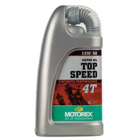 Huile moteur MOTOREX Top Speed 4T 15W50 synthétique 1L