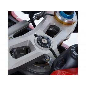Insert ecrou de direction R&G RACING noir Ducati Panigale V4