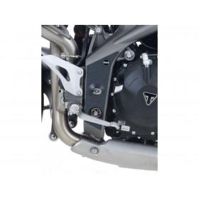 Adhésif anti-frottement R&G RACING cadre noir 2 pièces Triumph Speed Triple