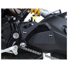 Adhésif anti-frottement R&G RACING bras oscillant/platines talon noir 4 pièces Ducati Monster 1200 R