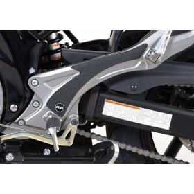 Adhésif anti-frottement R&G RACING platine talon noir 2 pièces Suzuki SV650N/S