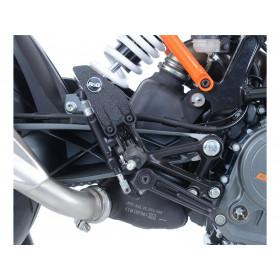 Adhésif anti-frottement R&G RACING platine talon noir (2 pièces) KTM Duke 125