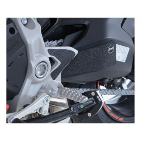 Adhésif anti-frottement R&G RACING platines repose-pieds/bras oscillant noir (3 pièces) Ducati 937 Supersport
