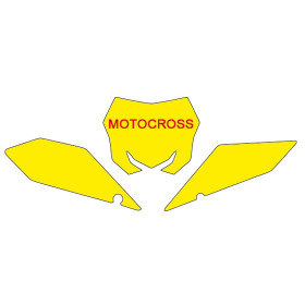 Fonds de plaque BLACKBIRD rouge Suzuki RM-Z450