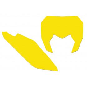 Fonds de plaque BLACKBIRD jaune Sherco SE/SE-F