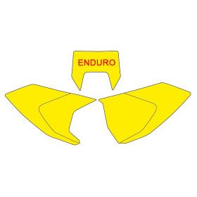 Fonds de plaque BLACKBIRD jaune Husqvarna TE/FE