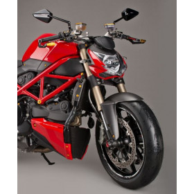 Garde boue avant LIGHTECH carbone mat Ducati Streetfighter 848
