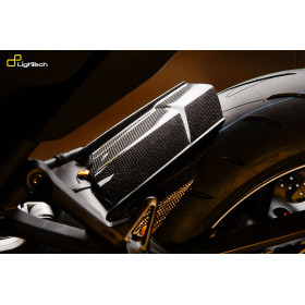 Garde boue arrière LIGHTECH carbone brillant Yamaha Mt-09