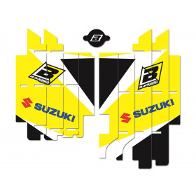 Kit déco de cache radiateur BLACKBIRD Dream Graphic 3 jaune Suzuki RM-Z450