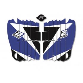 Kit déco de cache radiateur BLACKBIRD Dream Graphic 3 bleu Yamaha YZ450F