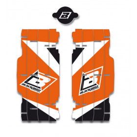 Kit déco de cache radiateur BLACKBIRD Dream Graphic 3 orange KTM SX/SX-F