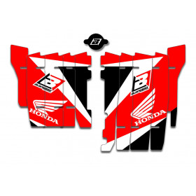Kit déco de cache radiateur BLACKBIRD Dream Graphic 3 rouge Honda CRF450RX