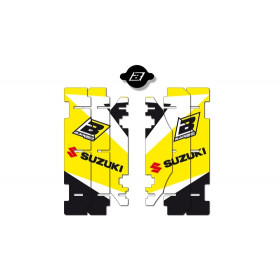 Kit déco de cache radiateur BLACKBIRD Dream Graphic 3 jaune Suzuki RM125/250